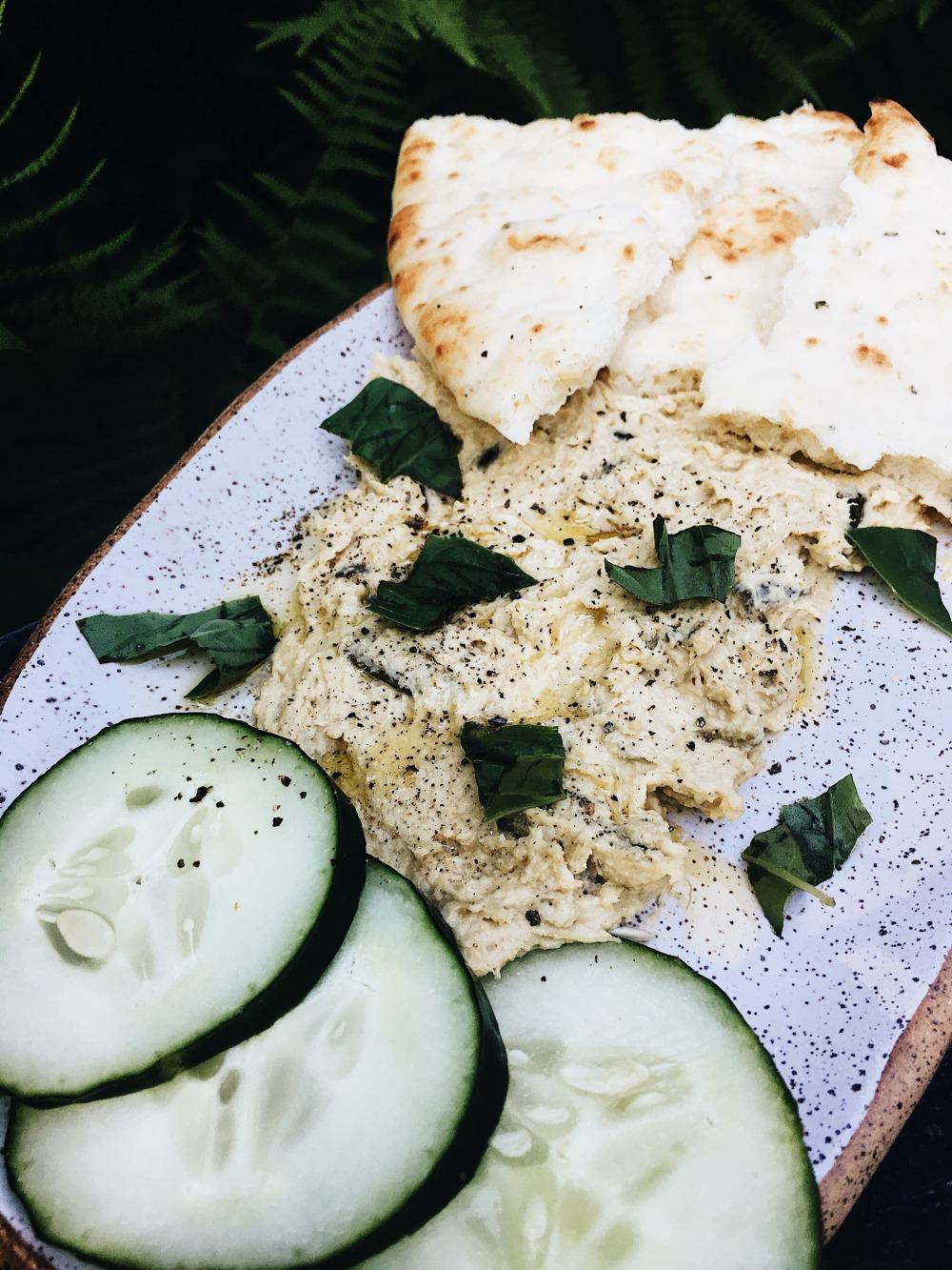Garlic Scape Hummus Close Up