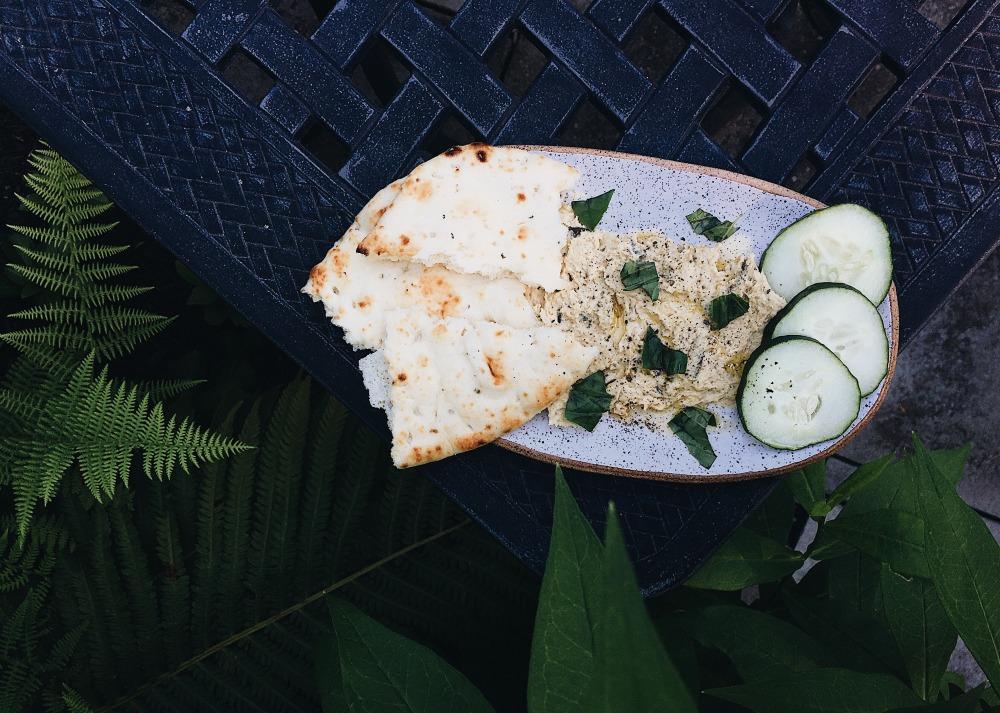 Garlic Scape Hummus Horizontal