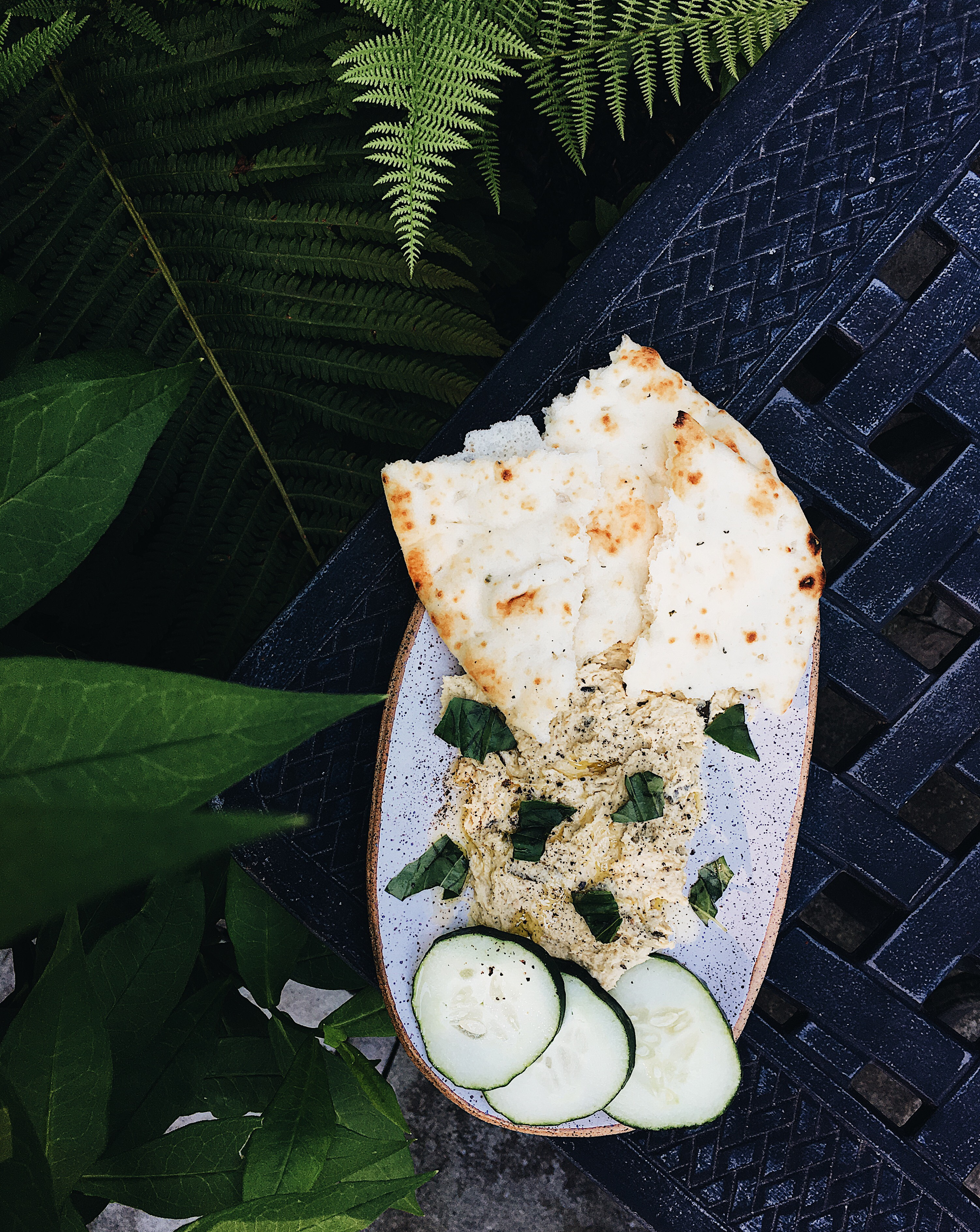 Garlic Scape Hummus Vertical