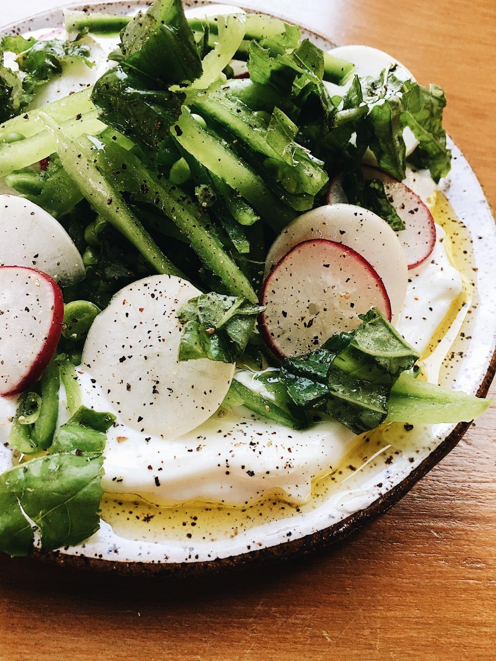 Sugar Snap Pea Salad_Vertical and More close up