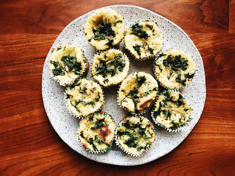Plate of Egg Muffins Horizontal